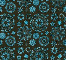 Round ornament seamless pattern by julkapulka