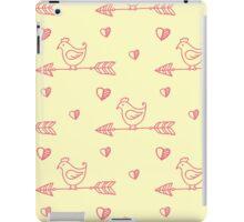Arrow bird pattern love handpainted iPad Case/Skin