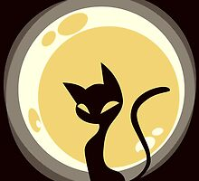Cat and Moon by MissusCC