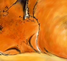 Foxy naps Sticker