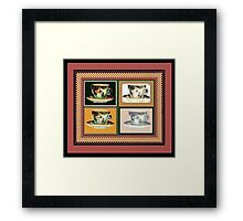 Vintage Tea Cup Altered Art Collage Framed Print
