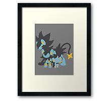 Shinx Evolution Framed Print