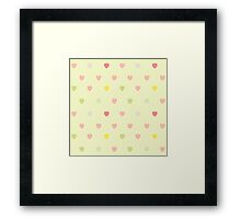 Heart shaped love vector cute pattern Framed Print