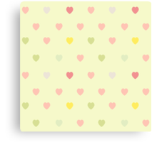 Heart shaped love vector cute pattern Canvas Print