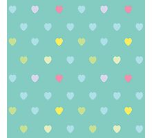 Heart shaped love vector cute pattern Photographic Print