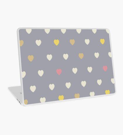 Heart shaped love vector cute pattern Laptop Skin