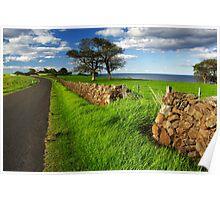 Kiama Dry Stone Wall Poster