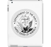 Department of the Navy  Crest iPad Case/Skin