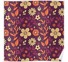 Flowers pattern Poster