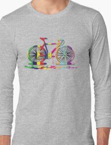 Rainbow bicycle Long Sleeve T-Shirt