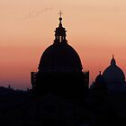 Sunset over Rome  by Sharon McDowall