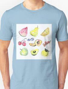 Watercolor fruits T-Shirt