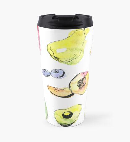 Watercolor fruits Travel Mug