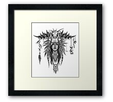 Prehistoric Elf Witch Doctor Framed Print