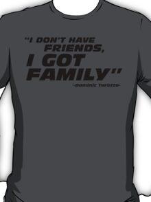 Family - black art T-Shirt