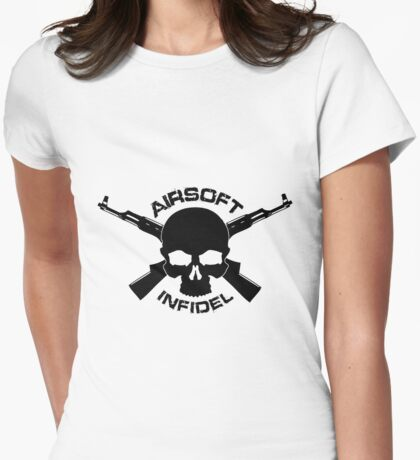 Airsoft Infidel Ladies Womens Fitted T-Shirt