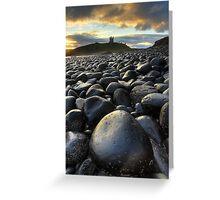 Dunstanburgh Boulders Greeting Card