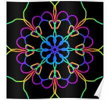 Personal Electromagnetic Field Rainbow Kaleidoscope  Poster