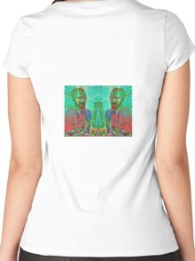 VINCENT AND HIS BRUSHES Women's Fitted Scoop T-Shirt