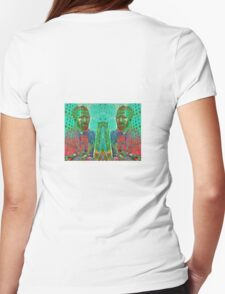 VINCENT AND HIS BRUSHES Womens Fitted T-Shirt