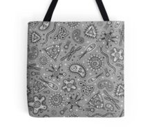 Microbes - Grey / Gray Tote Bag