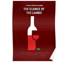 No078 My Silence of the lamb minimal movie poster Poster