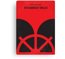 No085 My Steamboat Willie minimal movie poster Canvas Print