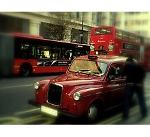 Black Cab? Photographic Print