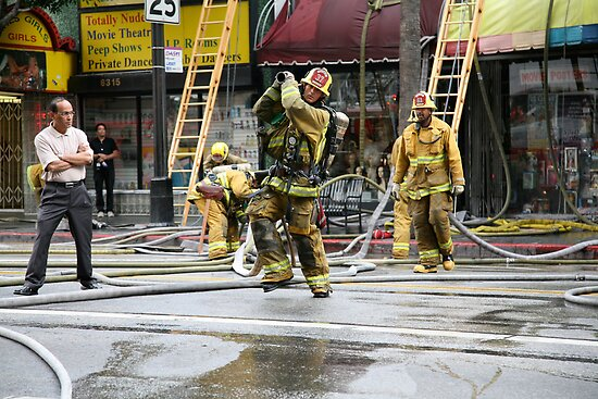 Working Fire Fighters by Cathy Immordino