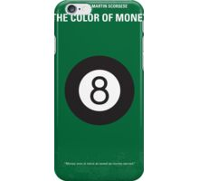 No089 My The color of money minimal movie poster iPhone Case/Skin