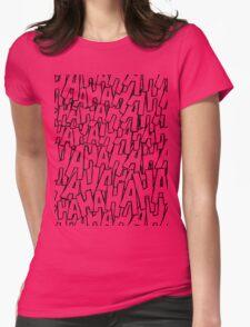 Ha Ha Ha - Purple Womens Fitted T-Shirt