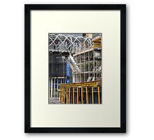city mesh Framed Print