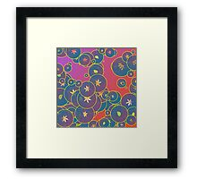 Bubbles and leaves Framed Print