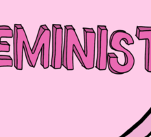 """Feminist"" Love Heart design Sticker"