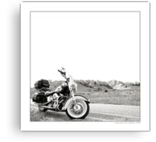 """Harley at Hawk Springs, Wyoming"" Canvas Print"