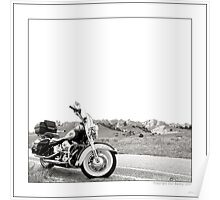 """Harley at Hawk Springs, Wyoming"" Poster"