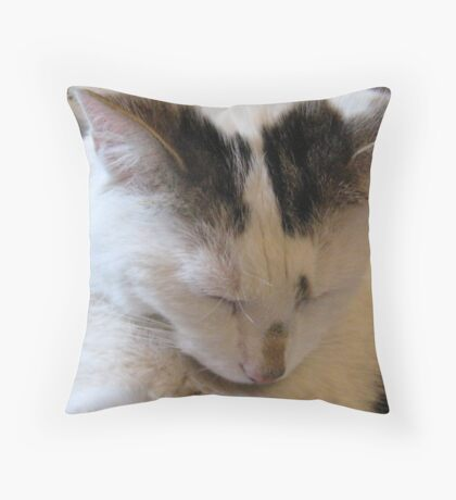 For What We R About To Receive Throw Pillow