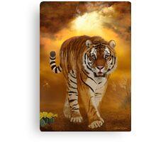 Tiger - After the Storm Canvas Print