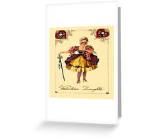 Vintage Valentine Thoughts Greeting Card
