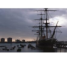 sunset over hms victory Photographic Print
