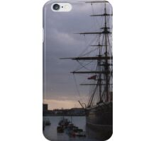 sunset over hms victory iPhone Case/Skin
