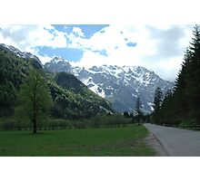 Road trip to the Alps Photographic Print