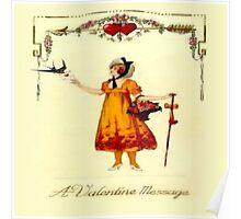 Vintage Valentine Messages Poster