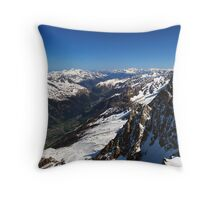 The French Alps Throw Pillow