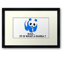 What is a Panda? Framed Print