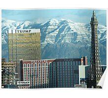 Las Vegas Strip & Mountains Poster