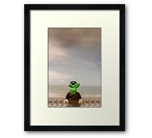 The Son of Lego Framed Print