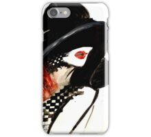 Woman with a hat fashion illustration iPhone Case/Skin