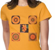 Canna Lily Kaleidoscope Womens Fitted T-Shirt