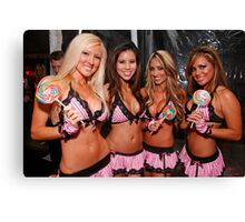 Candy girls Canvas Print